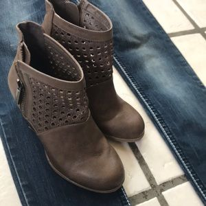 Perforated booties boots ankle